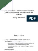 De La Preparation a La Naissance a La Realite Publier