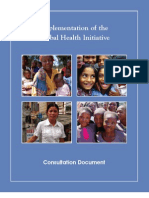 Implementation of the Global Health Initiative – February 2010