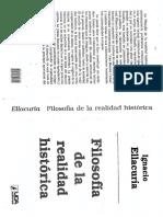 Ignacio Ellacuria. Filosofía de La Realidad Histórica