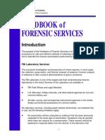 Handbook of Forensic Services FBI