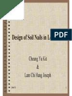 CIEM-Soil Nails in Loose Fill