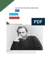 Pavlov y Sus Experimentos de Reflejo Condicionado