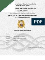 TEST (GERENTE DE INFORMACIÓN) DE GESTIÓN DEL CONOCIMIENTO