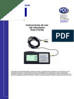 Manual Vibrometro Pce Vt2700