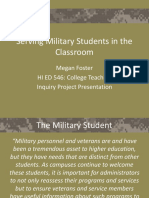 serving military students in the classroom