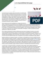 Fresnillo, Iolanda - Del Tabú Del Impago a La Imposibilidad Del Pago