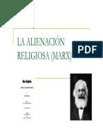 La Alienacion Religiosa Segc3ban Marx