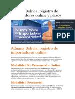 Aduana Bolivia