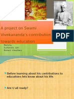 A Project on Swami Vivekananda's Contribution Towards Education