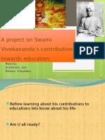 A Project on Swami Vivekananda's Contribution Towards Education