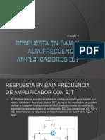 Respuesta en Baja y Alta Frecuencia Amplificadores Bjt