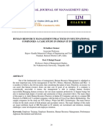 Human Resource Management Practices in Multinational Companies- A Case Study I-libre