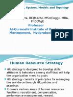 HRM Strategy System Models Typology GCM