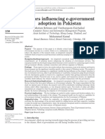 9 1 Factors Influencing e Government Adoption in Pakistan