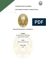 Innovacion y desarrollo en América latina y el Peru