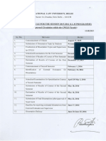 Academic Calendar- II Sem.