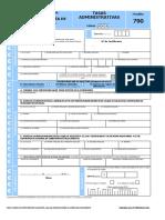 Solicitud Certificado Penales - Tasas Modelo 790