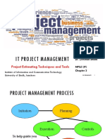 IT Project Management - Chapter 3 Project Estimating Techniques and Tools
