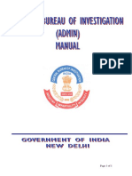 A Manual on Cbi Administration