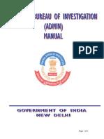 A Manual on Cbi Administration