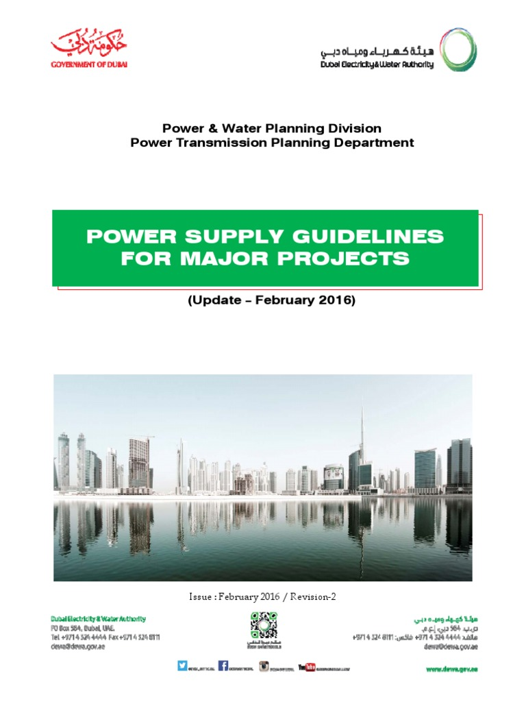 DEWA Power Supply Guidelines for Major Project 2016 | Latitude | Electrical  Substation