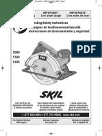 Manual Circular Skilsaw
