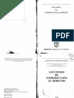Lecciones de Introduccion Al Derecho Jaime Williams Benavente