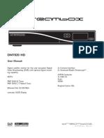 Dm7020hd User Manual