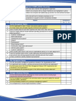FIDIC Quality Control Checklist