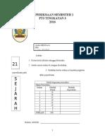 Soalan Sejarah Pt3 Semester 1 2016 (Ubahsuai)
