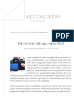 Teknik Dasar Menggunakan DSLR - Askthephotographer