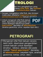 Petrologi Petrografi