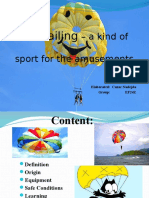 Parasailing – a Kind of Sport