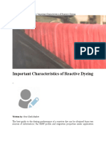 Important Characteristics of Reactive Dyeing