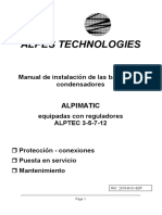 Manual Alpimatic bateria de condensadores