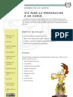 Guía para la preparación de un curso
