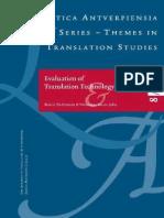 Linguistica Antverpiensia No8 2009 Evaluation of Translation Technology