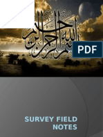 survey field notes