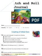 stitch and roll student journal 2016