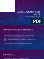 Acids, Alkalis and Salts Revision