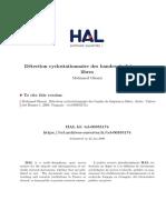 Détection Cyclostationnaire Des Bandes de Fréquences Libres