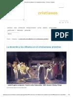 La Devoción a Los Difuntos en El Cristianismo Primitivo - Primeros Cristianos