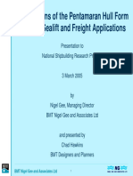 Applications of the Pentamaran Hull Form for Fast Sealift and Freight Applications - Gee 2005