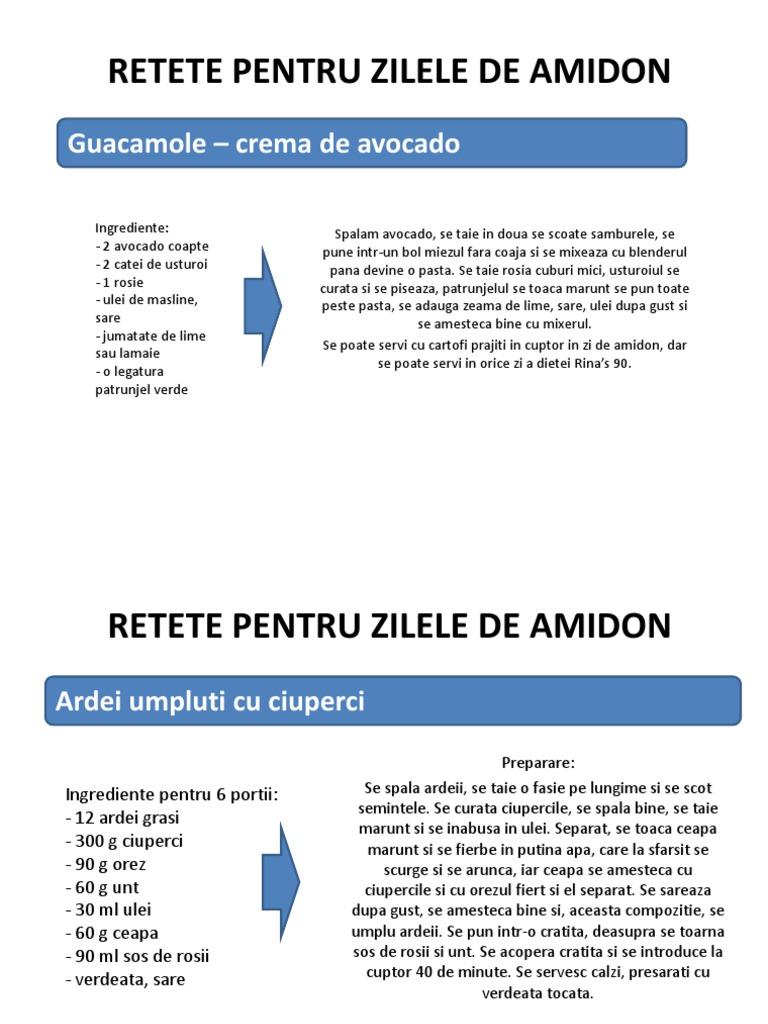 Amidon – Retete dieta rina