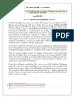 Civil Society Statement From Uganda on Panama Leaks and Tax Treaties