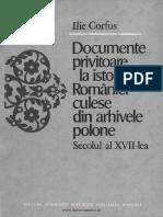 Documente Privitoare La Istoria României Culese Din Arhivele Polone. Volumul 2