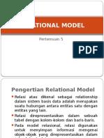 Relation Model