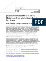 US Department of Justice Official Release - 01965-06 tax 155