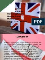 Hortatory Text Ppt