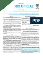 Diario oficial de Colombia n° 49.835. 5 de abril de 2016